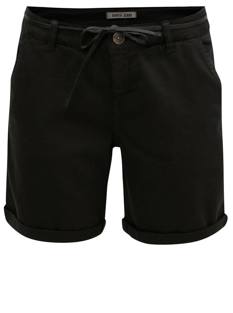 Černé dámské kraťasy s nízkým pasem Garcia Jeans
