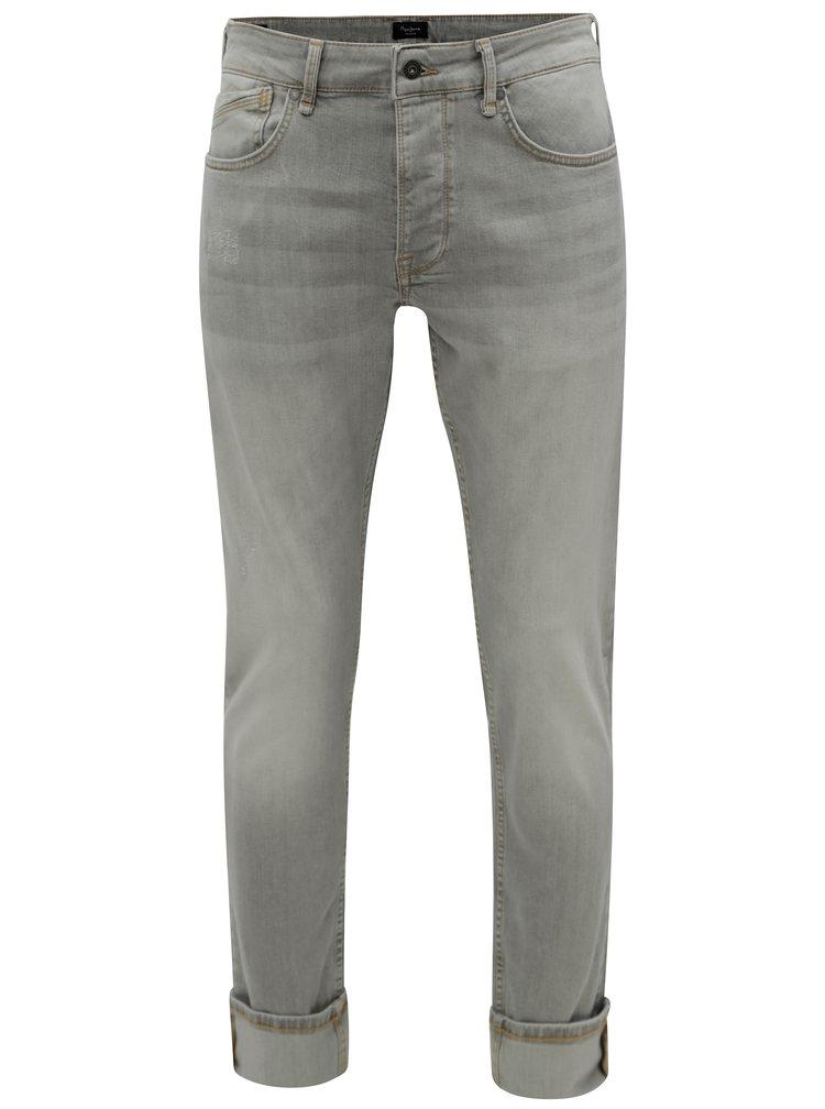 Blugi barbatesti regular gri deschis din denim Pepe Jeans Zinc