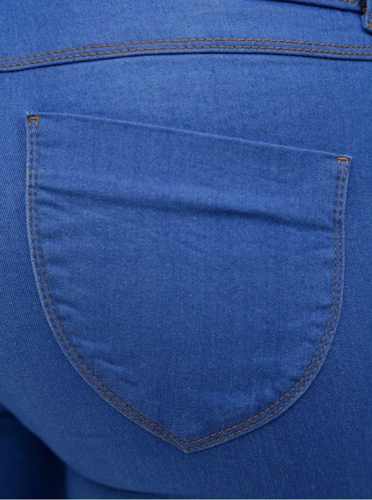 Modré zkrácené jeggings Dorothy Perkins Petite