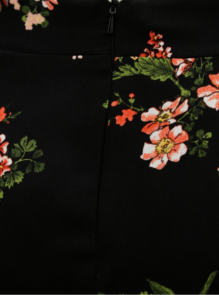 Čierna kvetovaná sukňa Dorothy Perkins