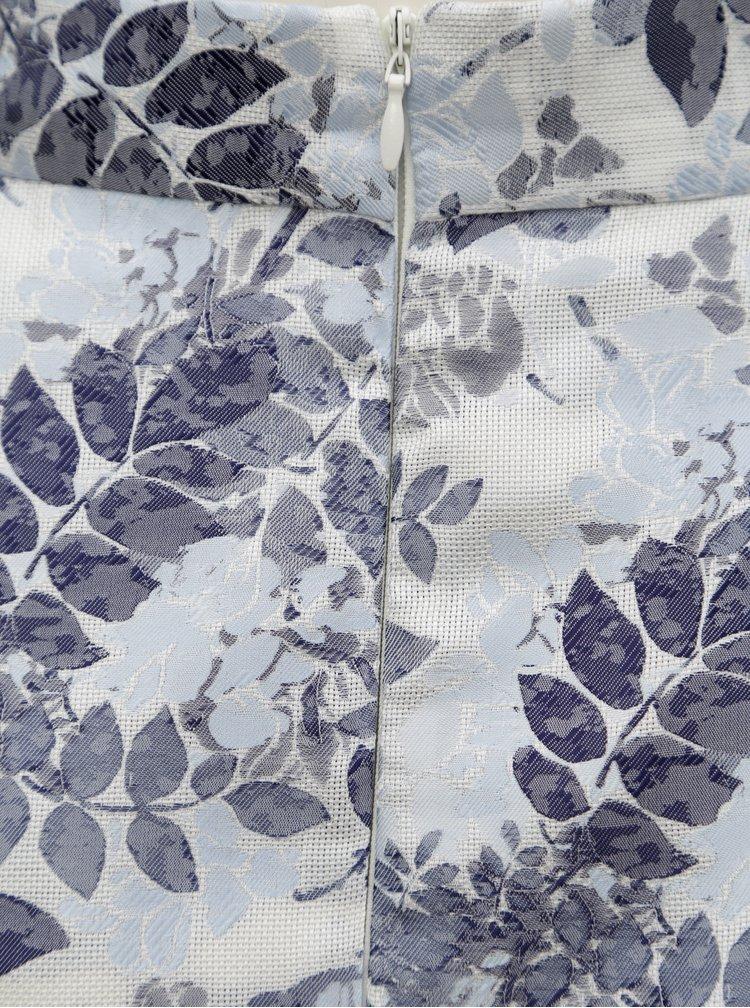 Fusta albastra cu model floral Dorothy Perkins