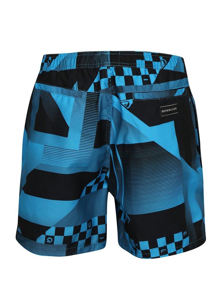 Černo-modré pánské vzorované plavky Quiksilver