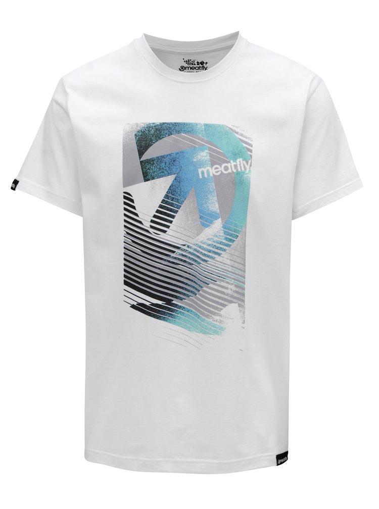Bílé pánské tričko MEATFLY Domino