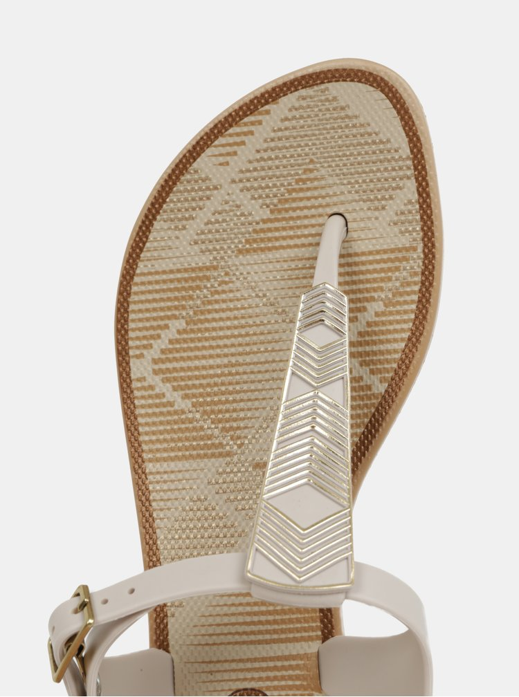 Krémové vzorované sandály Grendha Romantic
