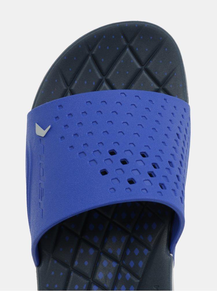 Šedo-modré pánské pantofle Rider