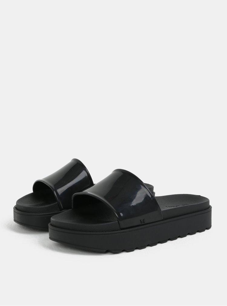 Papuci negri cu platforma Zaxy Upload Plat