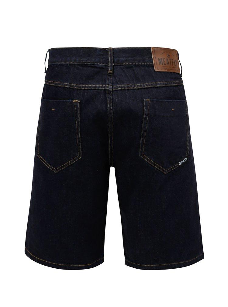 Tmavě modré pánské džínové kraťasy MEATFLY Just