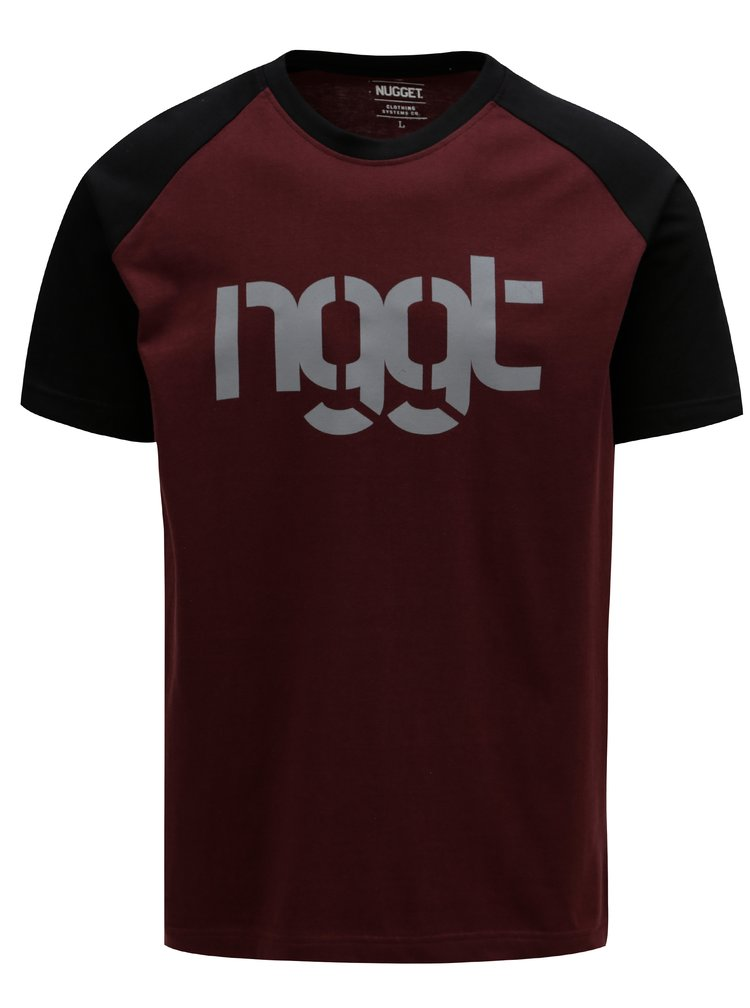 Tricou negru-visiniu pentru barbati - NUGGET Asset
