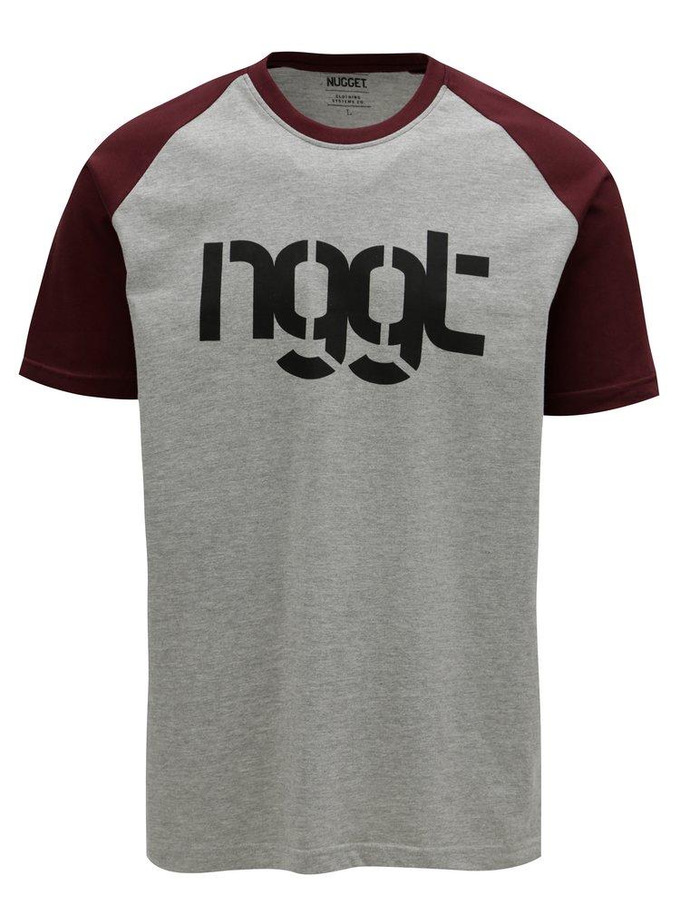 Tricou visiniu-gri pentru barbati - NUGGET Asset