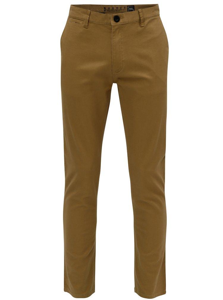 Pantaloni maro deschis pentru barbati - NUGGET Lenchino