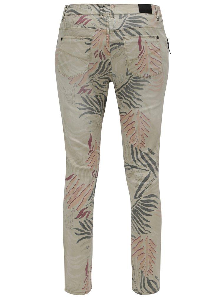 Béžové dámské zkrácené slim fit džíny s nízkým pasem Garcia Jeans