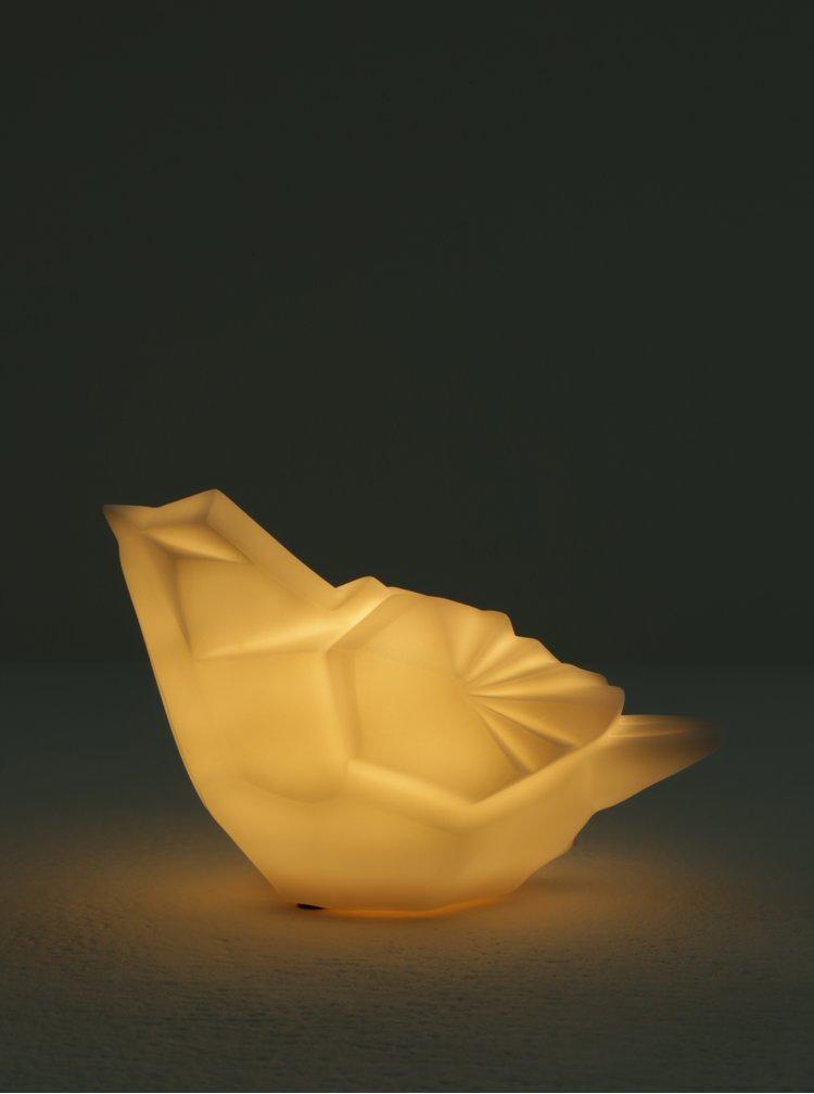 Bílá LED lampa ve tvaru ptáka Disaster
