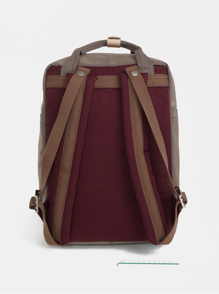 Vínovo-hnědý batoh Doughnut Macaroon
