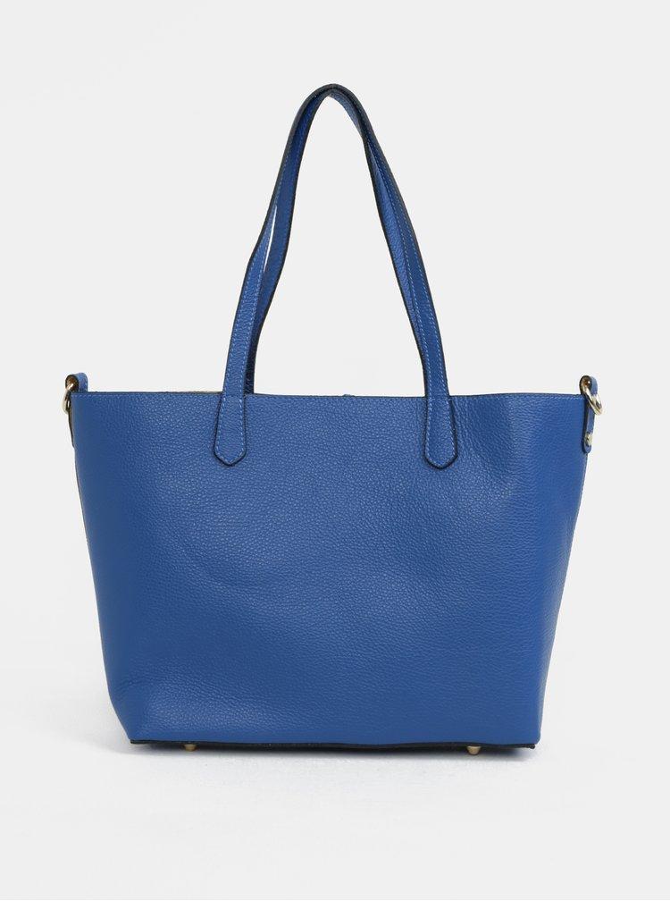 Modrý kožený shopper s pouzdrem 2v1 ZOOT