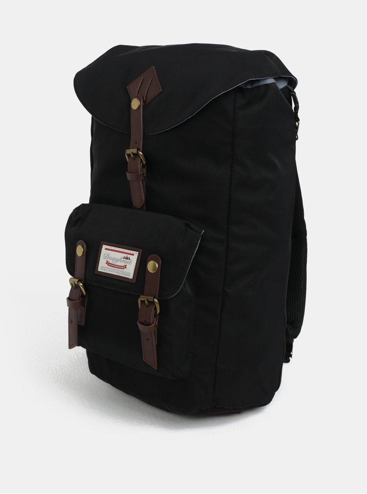 Černý batoh s koženými detaily  Doughnut Heritage