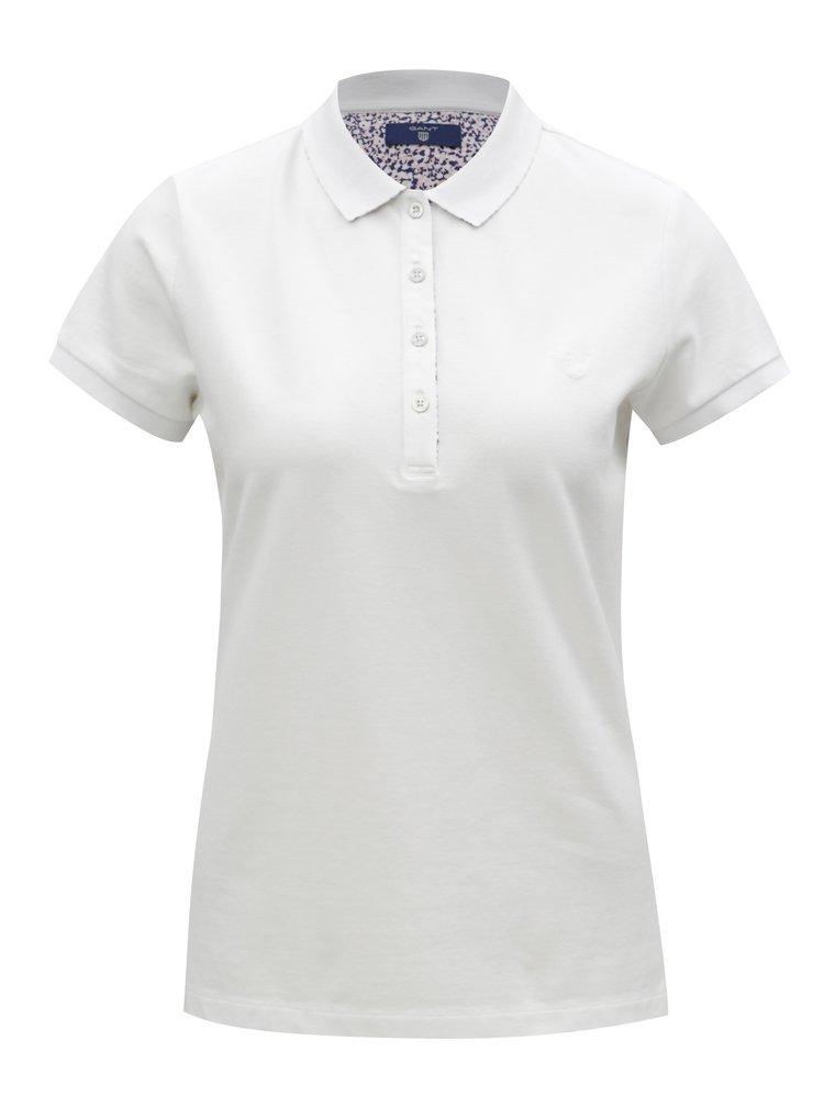 Bílé dámské polo tričko GANT