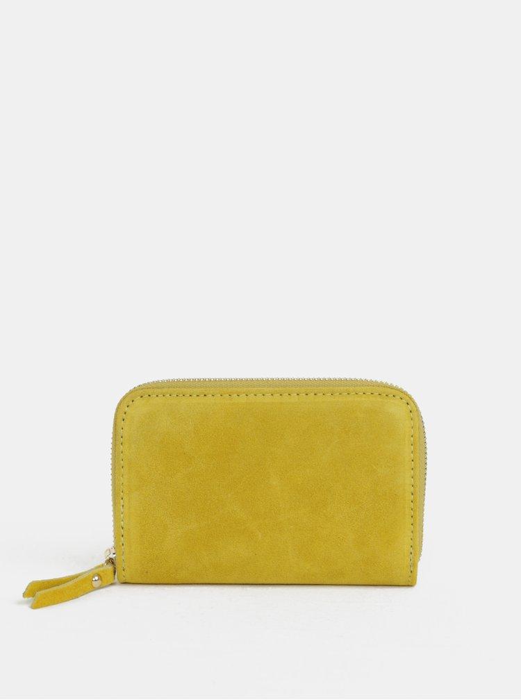 Žlutá semišová malá peněženka ZOOT