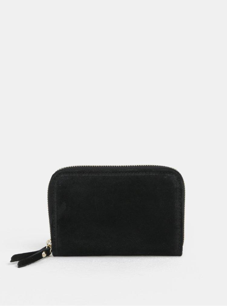 Černá semišová malá peněženka ZOOT