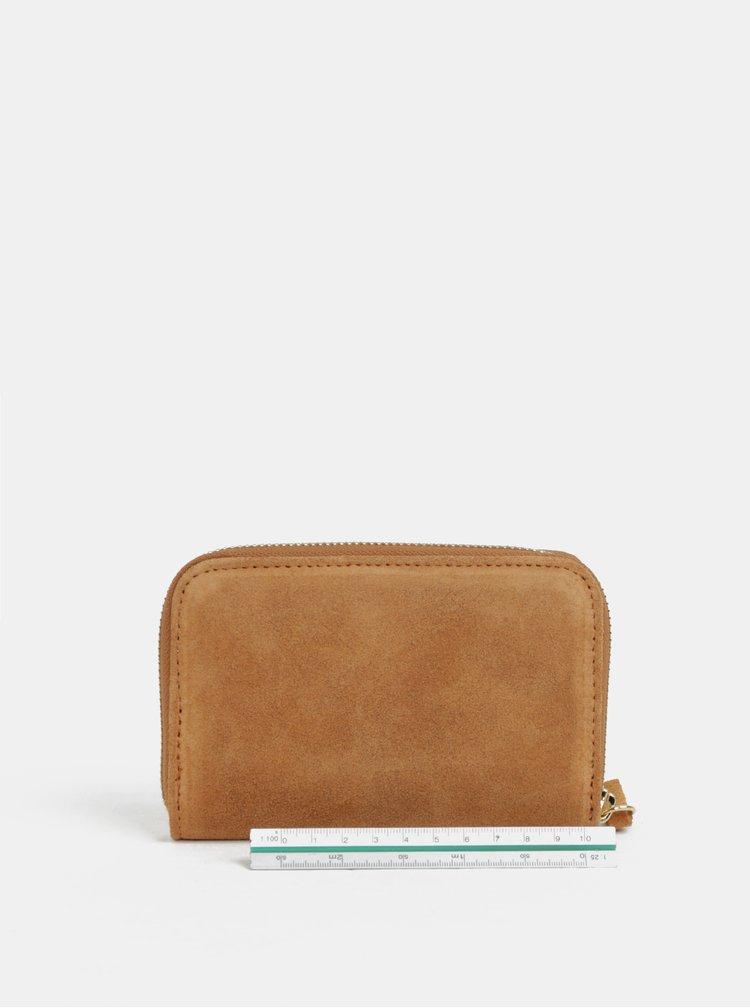 Hnědá semišová malá peněženka ZOOT