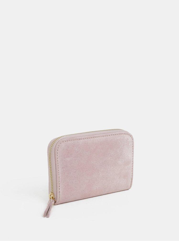 Staroružová semišová malá peňaženka ZOOT