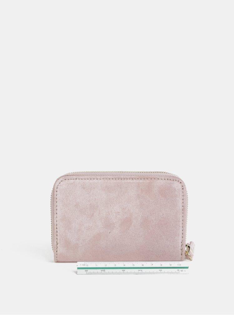 Starorůžová semišová malá peněženka ZOOT
