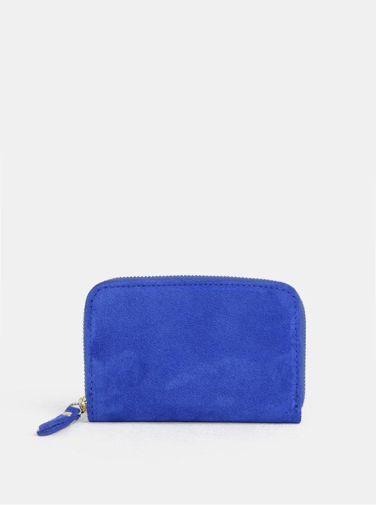 Modrá semišová malá peněženka ZOOT