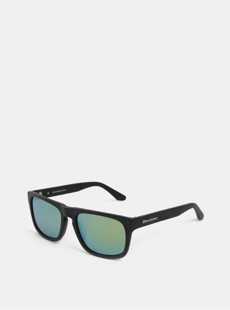 Zeleno-černé pánské sluneční brýle Horsefeathers Keaton