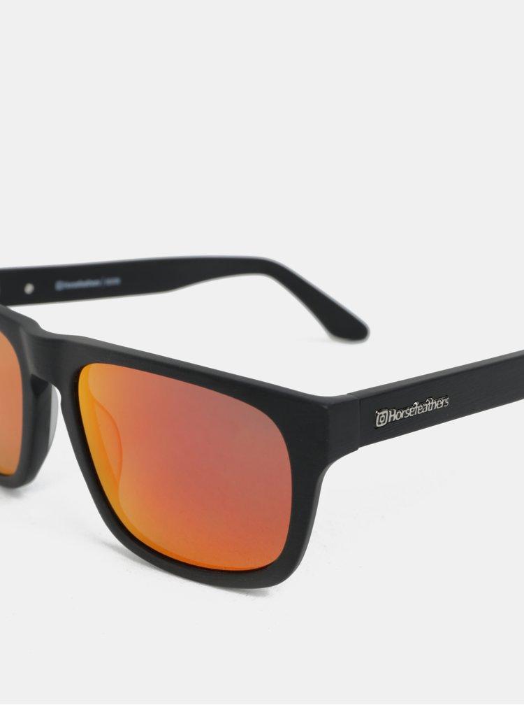 Červeno-černé pánské sluneční brýle Horsefeathers Keaton
