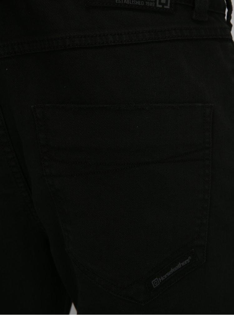 Černé pánské slim straight fit džíny Horsefeathers Nate
