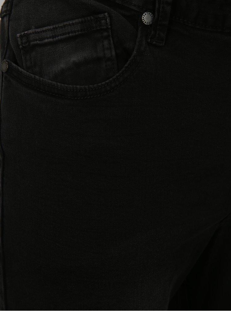 Černé pánské slim straight fit džíny Horsefeathers Flip