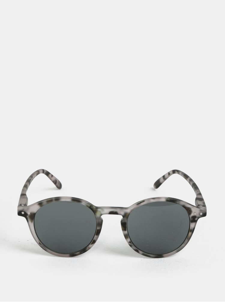 Černo-šedé vzorované unisex sluneční brýle IZIPIZI #D