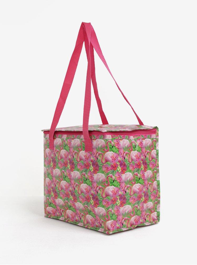 Růžová termo taška s motivem plameňáků SIFCON