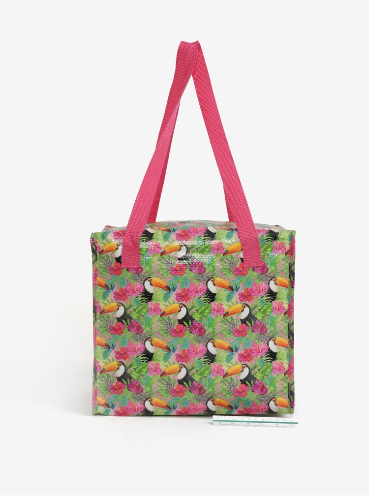 Zeleno-růžová termo taška s motivem tukanů SIFCON