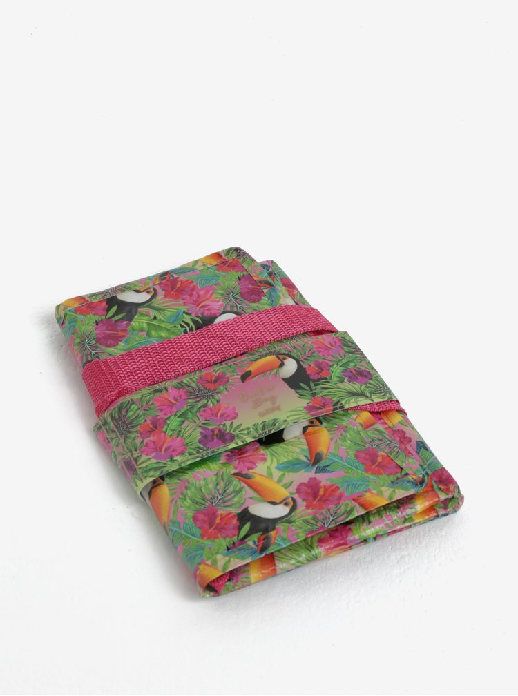 Zeleno-růžová malá termo taška s motivem tukanů SIFCON