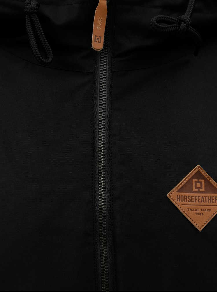 Jacheta impermeabila neagra pentru barbati Horsefeathers Basil