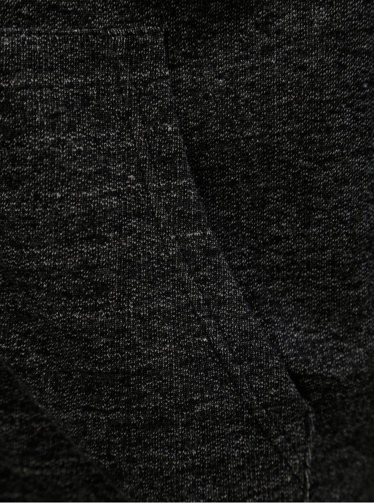 Černo-šedá žíhaná pánská mikina s kapucí Horsefeathers Porter