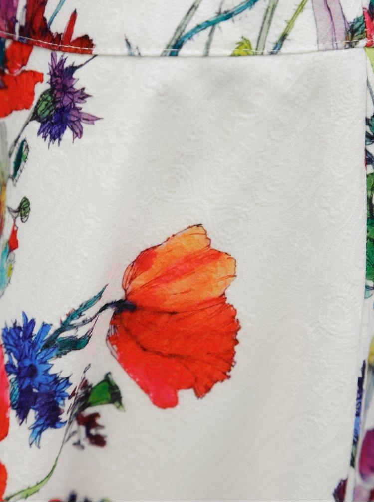 Červeno-bílá květovaná sukně Smashed Lemon