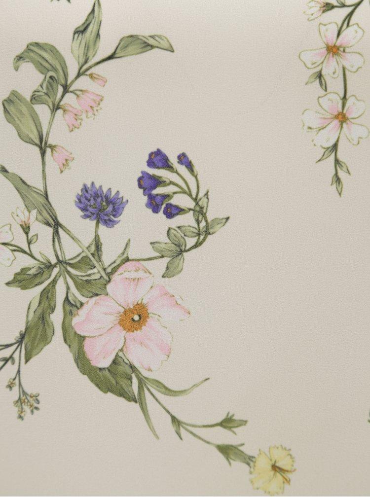Krémová květovaná halenka Dorothy Perkins Petite