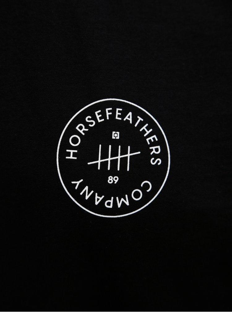 Černé pánské tričko s potiskem Horsefeathers Five