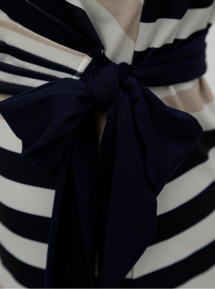 Modro-krémové pruhované šaty Smashed Lemon