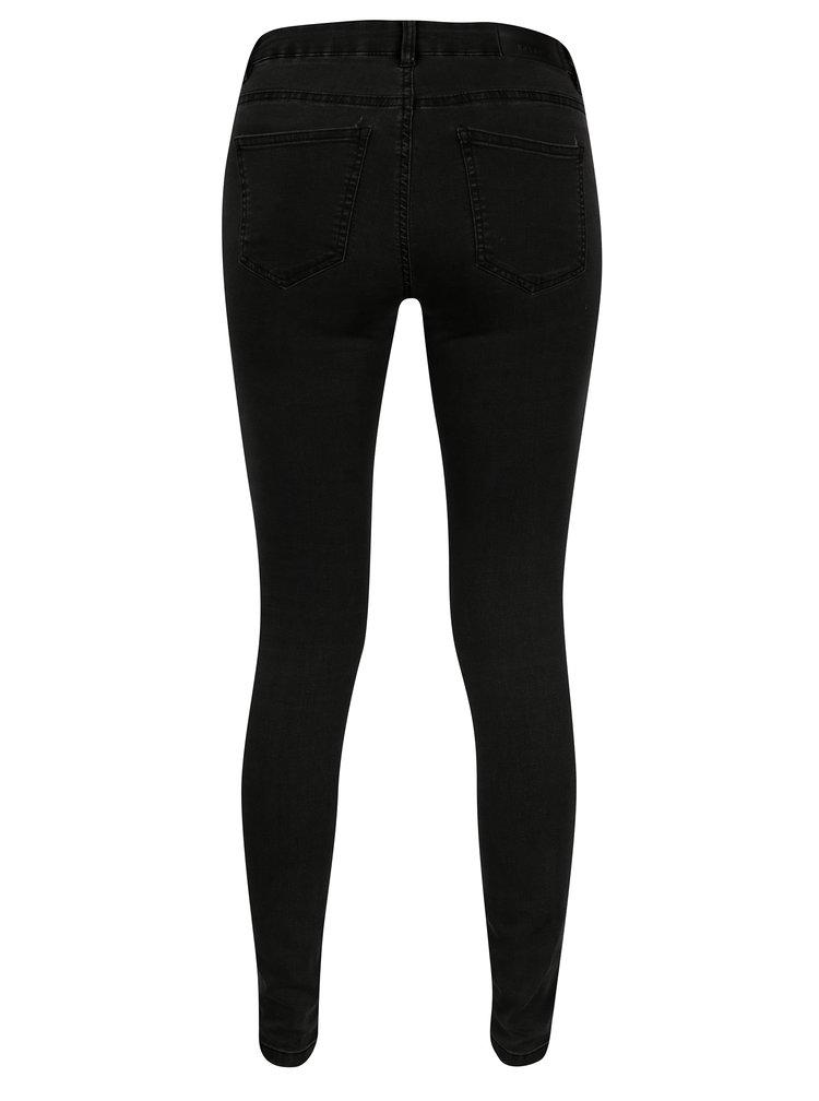 Tmavě šedé skinny džíny s nízkým pasem Noisy May Extra Eve