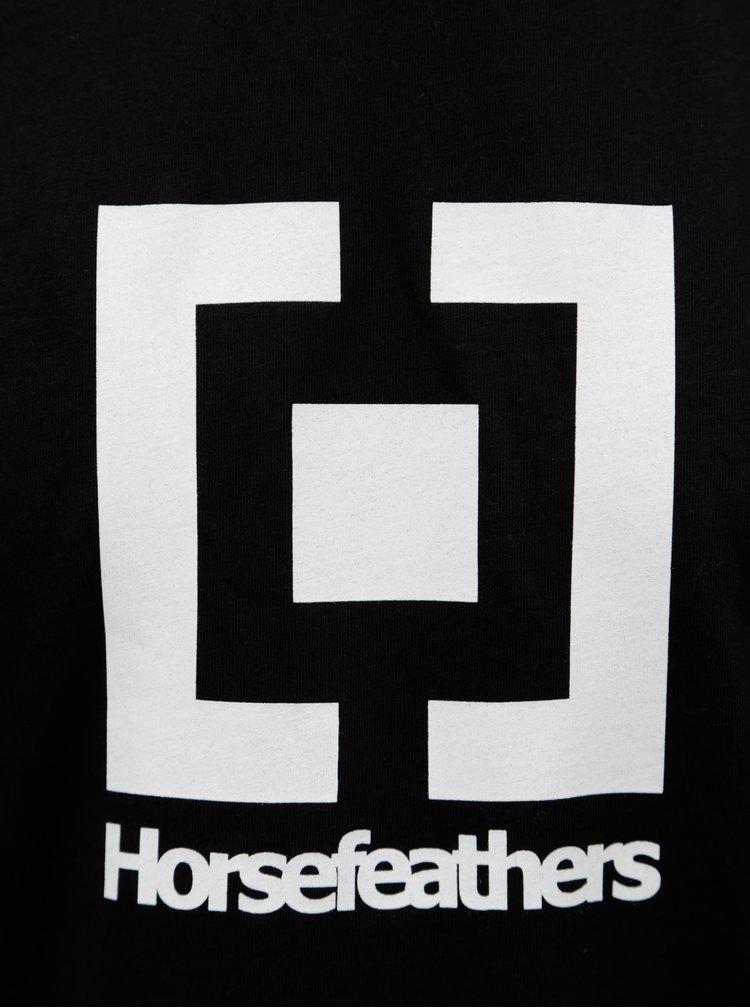 Černé pánské tričko s potiskem Horsefeathers Base