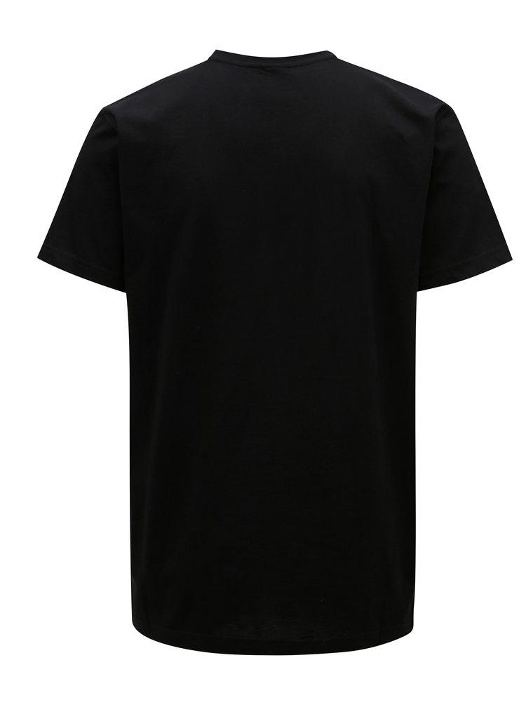 Tricou negru cu print pentru barbati - Horsefeathers Base