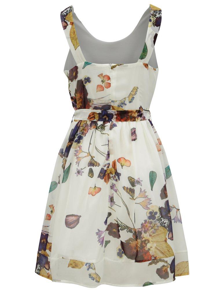 Krémové květované šaty Smashed Lemon