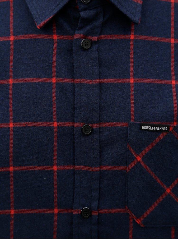 Modrá pánská kostkovaná košile Horsefeathers Rashid