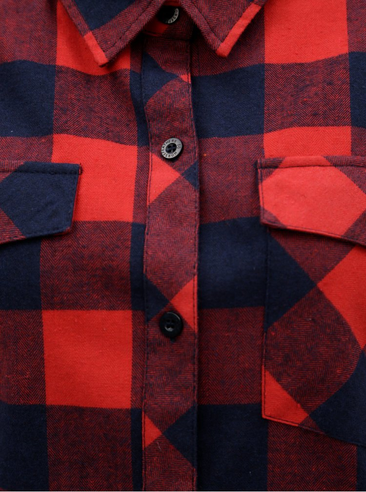 Červená dámská kostkovaná košile Horsefeathers Maya
