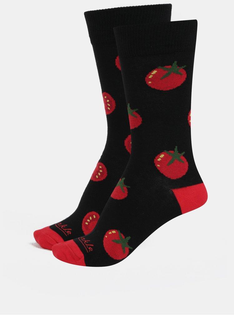 Červeno-černé unisex ponožky Fusakle Pretlak