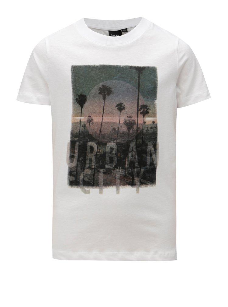 Bílé klučičí tričko s potiskem LIMITED by name it Oblik