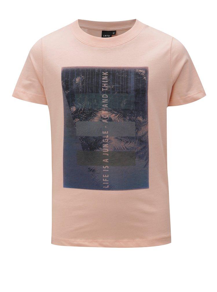 Meruňkové klučičí tričko s potiskem LIMITED by name it Oblik