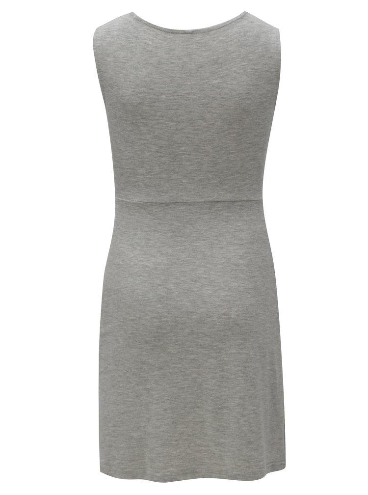 Šedé holčičí šaty s uzlem LIMITED by name it Norma